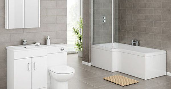 L Shape Bath Suite Brand New Including Taps Wastes From