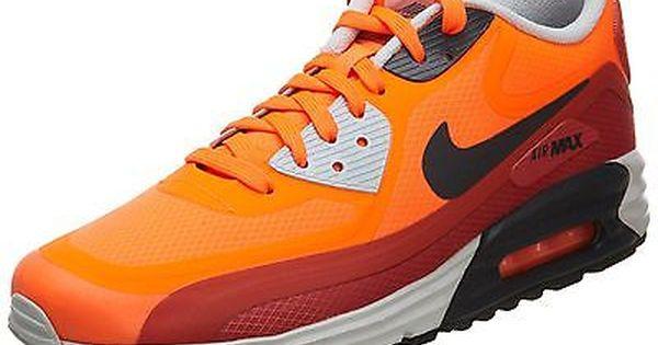 Nike Air Max Lunar 90 Wr Mens 654471 800 Orange Red Running