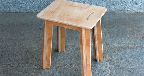 Picture Of Simple Knock Down Stool Made From Plywood Flat Pack Fabrica Digital Pinterest