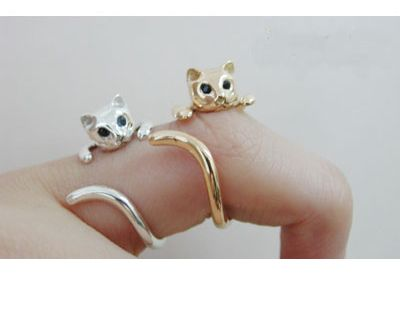 so cute cat ring ,,only $2.99 at www.costwe.com