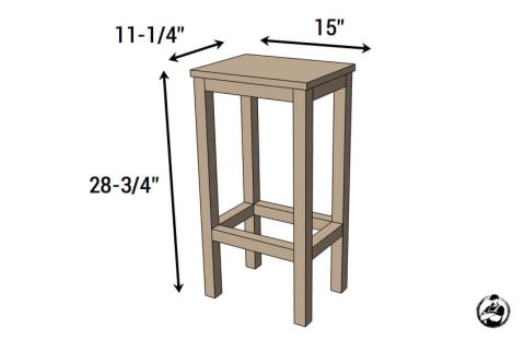 Prime Easiest Bar Stools Ever Free Diy Plans Diy Bar Stools Spiritservingveterans Wood Chair Design Ideas Spiritservingveteransorg