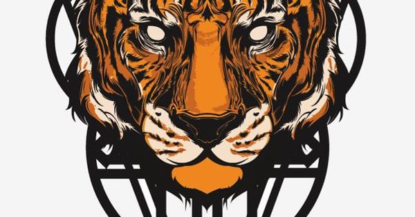 I like how the piece of art is perfectly symmetrical. It also like the fact that the tiger has no eyes as to seem like it is evil or demonic in nature. The colors are also very bright and vivid. I find the background artwork a little bit distracting to th...