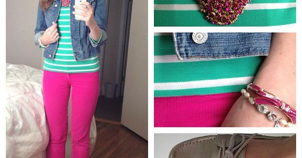 pink top may look good with teal skirt.