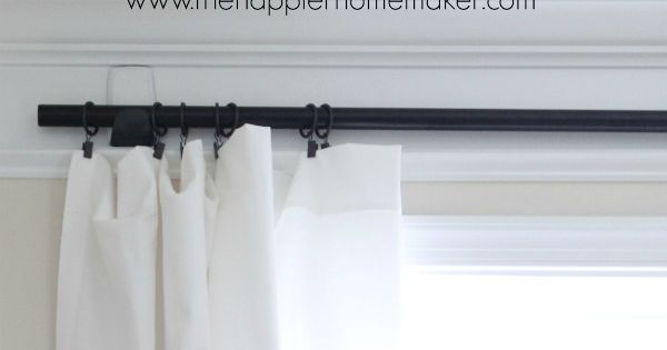 How To Hang Curtains With Command Hooks No Holes Renter Friendly Window Diy Home