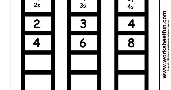 Skip Counting By 2, 3 And 4 - 1 Worksheet