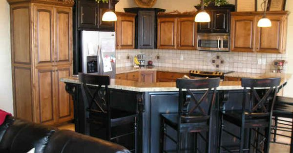 High Quality Alder Cabinets, Beautiful Black Kitchen Island With Bar Seating | Kitchen    Islands | Pinterest | Beautiful, Cabinets And Bar Great Pictures