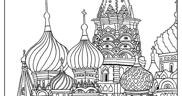 saint basils cathedral coloring pages - photo#23