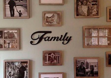 Ocho formas originales de colocar las fotos de familia murales y ideas - Decorations murales originales ...