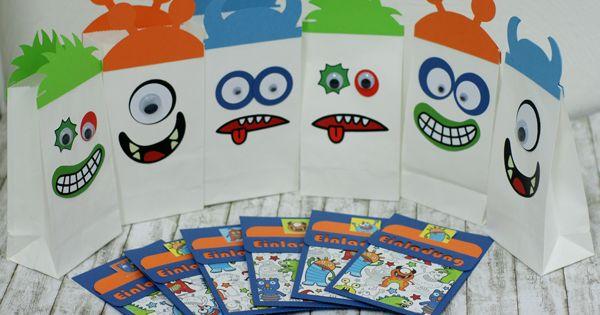 einladungskarten für kindergeburtstag zum selber machen | das set, Kreative einladungen
