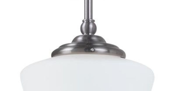 kitchen island sea gull lighting 1 light brushed nickel