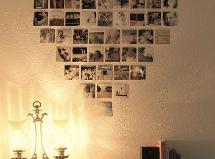 Heart shaped photo display