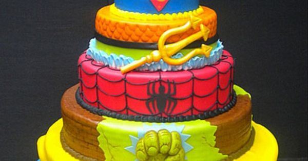 super hero cake maybe a grooms cake for your superhero