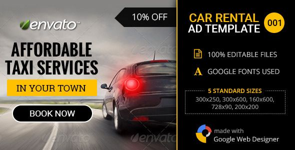 Car Rental Service Banner 001 Banner Ads Car Rental Car