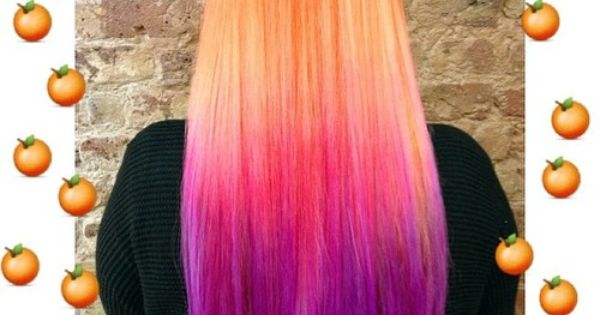 tangerine dream and washed out orange mixed together by tasha pastel hair pinterest purple. Black Bedroom Furniture Sets. Home Design Ideas