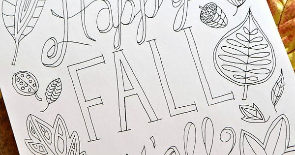 Happy Fall Y'all Free Printable Coloring Page ... the ...