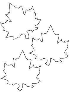 Vorlage Zum Ausdrucken Und Ausmalen Drei Herbstblatter Basteln Herbst Blattschablone Blatt Vorlage