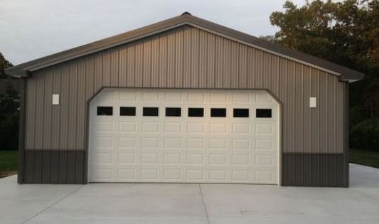 Pole barn colors projects pinterest barn pole barn for Wood garage doors michigan