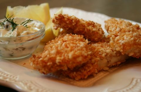 Oven fried panko crusted fish sticks was going to make for Panko fried fish