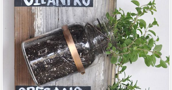 DIY Mason Jar Herb Garden by camillestyles Herb_Garden Gardening DIY camillestyles mommyyy!
