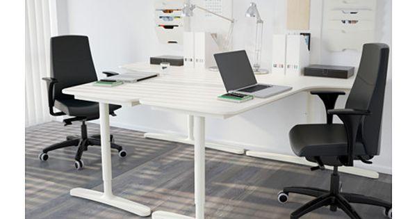 bekant h rnskrivbord v nster vit. Black Bedroom Furniture Sets. Home Design Ideas