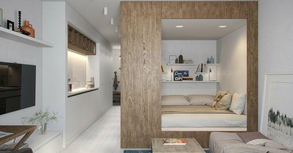 am nager un studio int rieurs design de moins de 30m2 id es de d co studios et int rieur. Black Bedroom Furniture Sets. Home Design Ideas