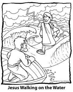 Jesus Walks On Water Preschool Jesus Walking On The Water