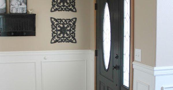 door love front door ideas pinterest oak trim and dark doors. Black Bedroom Furniture Sets. Home Design Ideas