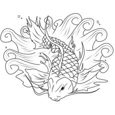 Top 25 Free Printable Koi Fish Coloring Pages Online Fish