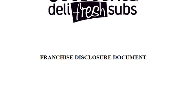 Fdd For Goodcents Deli Fresh Subs Fdd Goodcents