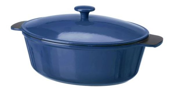 senior casserole with lid ikea made from cast iron which spreads heat evenly and retains it for. Black Bedroom Furniture Sets. Home Design Ideas
