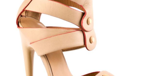 Mirage -- a natural leather sandal with buttons, a back zipper and