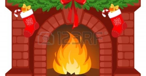 Ilustraci n vector chimenea en navidad decorada con - Dibujos de chimeneas de navidad ...