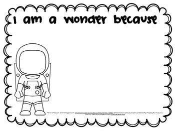 We Re All Wonders Resource Packet Wonder Book Library Lesson