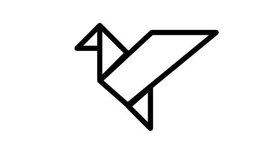bird in flight origami outline free icon