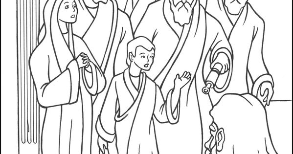 The 5th Joyful Mystery Coloring Page