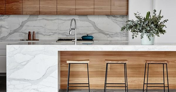 Shelter Rectangular Barstools  Kitchens  Pinterest  모던 부엌, 대리석 및 ...