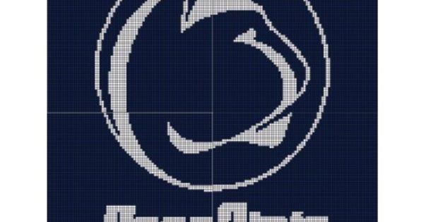 Penn State Pattern Afghan Graph Crocheting Pinterest