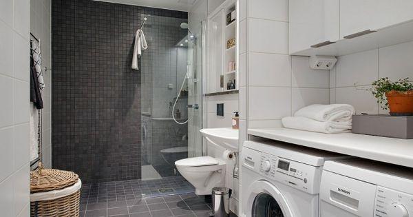 loft wohnung waschraum waschmaschine badezimmer geräumig, Innenarchitektur ideen