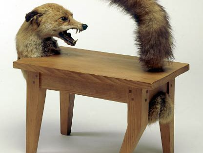 Victor brauner loup table wolf table 1939 1947 wood and parts of stuffed fox 54 x 57 x 28 5 - Victor brauner loup table ...