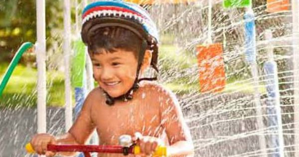 A kiddie car wash summer fun