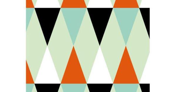 Papier peint losange design isak pour atomic soda 4 - Papier peint losange ...