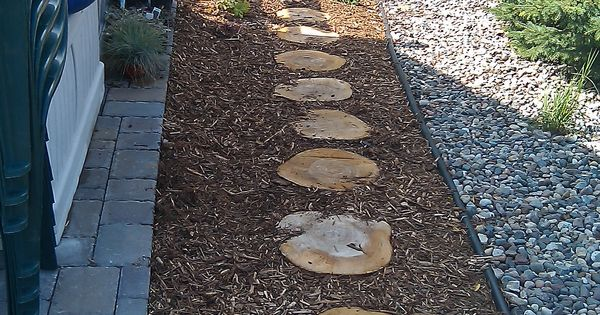 Wood Stepping Stones Let My Garden Grow Pinterest