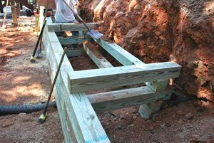 Properly Reinforced Wood Wall Landscaping Retaining Walls Wood Retaining Wall Retaining Wall