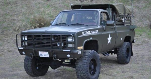 1986 Chevy C10 Chevy Trucks 1985 Chevy Truck Army Truck