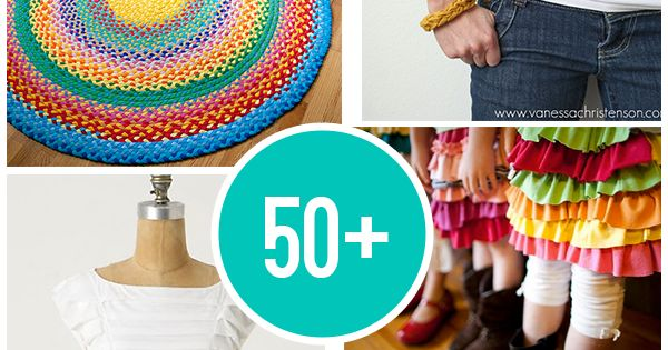 50+ projects to make using old t-shirts ♥ recycle t shirts -