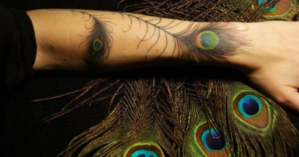 Peacock And Flowers Sleeve Tattoo Home Arm Tattoos Realistic Peacock Feather Tattoo On Arm Peacock Feather Tattoo Feather Tattoo Black Feather Tattoos