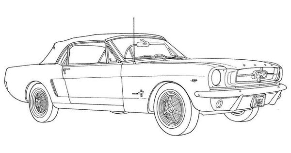 Vehicle Car Ford Mustang Coloring Page Cars Coloring Pages Mustang Drawing Coloring Pages