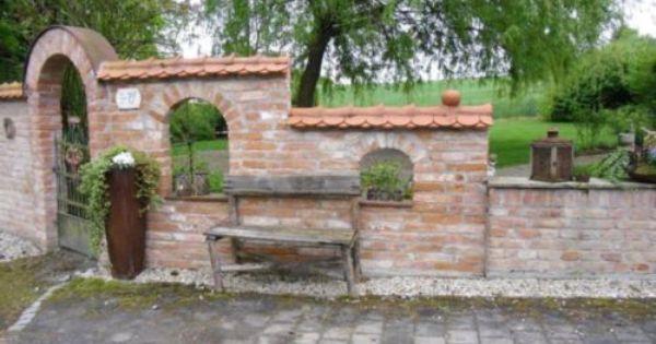 Stein Ziegel Mauerstein Backstein Klinker Klosterformat Reichsfor Steinmauer Garten Toskanischer Garten Gartenmauern