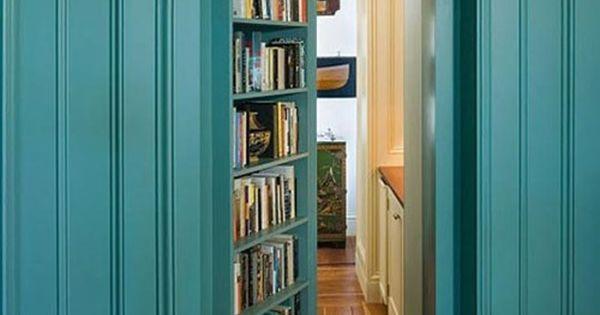 install secret door to secret room with lots of bookshelves!