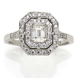 Edwardian Style Diamond Target Ring Unique Engagement Rings Jewelry Retro Jewelry